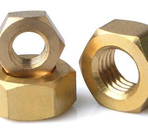 Din934 brass hex nuts